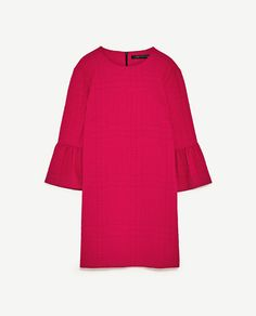 Image 8 of DRESS WITH FRILLED SLEEVES from Zara