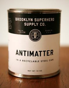 Canned design. #inspired