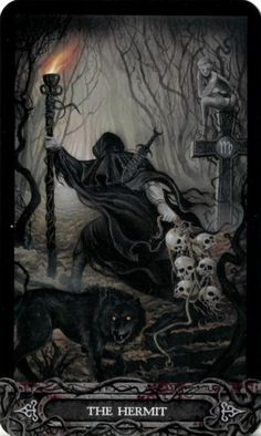 The Hermit from the Tarot of Vampyres