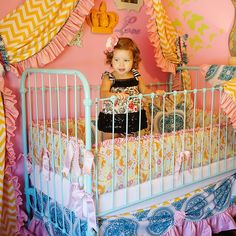 boho chic baby bedding. Good lord I'd consider having children for this!