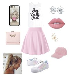 """""""Untitled #71"""" by alexandratomanova ❤ liked on Polyvore featuring adidas Originals, BP., Lime Crime and Nasaseasons"""