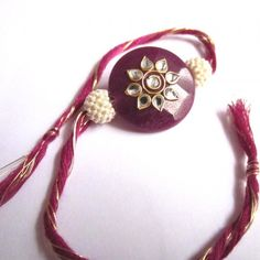 Create unique Bonding With the Awesome Kundan work Stone Rakhi , feel ROYAL this time ....!!! Costing just $4