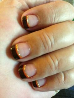 Must Try Fall Nail Designs And Ideas 2018 - Fashionre Thanksgiving Nail Designs, Holiday Nail Designs, Thanksgiving Nails, Holiday Nails, Love Nails, How To Do Nails, Fun Nails, Pretty Nails, Nail Tip Designs