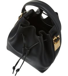 SOPHIE HULME Large drawstring bucket bag (Black