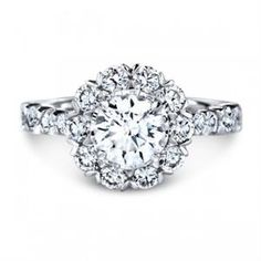 Shop online CHRISTOPHER DESIGNS G101FRD Halo 18K - White Gold Diamond Engagement Ring at Arthur's Jewelers. Free Shipping