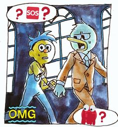 Yellow Guy, Red Guy, Dont Hug Me, I Need A Hug, Dhmis, Spooky Scary, Im Scared, Creative Colour, Drawing Challenge