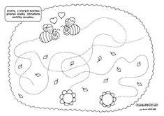 A méhek által keresett nyomvonal - munkalap gyerekeknek