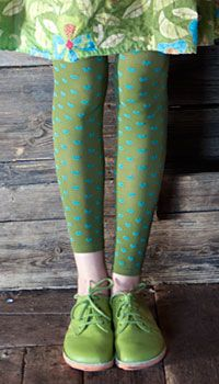 patterned footless tights £13