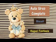 DIY- Ursinho sachê em Biscuit - Raquel Fontinele - YouTube