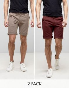 Find the best selection of D-Struct Turn Up Chino Shorts 2 Pack. Shop today with free delivery and returns (Ts&Cs apply) with ASOS! Summer Outfits Men, Casual Outfits, Men Casual, Mix And Match Fashion, Burton Menswear, Shorts Sale, Chino Shorts, Dress Codes, Mens Fashion