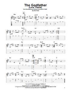 Nino Rota: The Godfather (Love Theme) - Partition Tablature guitare facile - Plus de 70.000 partitions à imprimer !