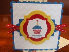 *Stampin' Up, by Amy Frillici, Gathering Inkspiration **order products online at amysuzanne.stampinup.net, Happy Birthday Cupcake Patterned Occasions Card