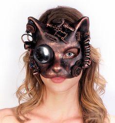 Mechanical Steampunk Cat Mask
