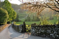 bluepueblo:  Country Lane, Lake District, England