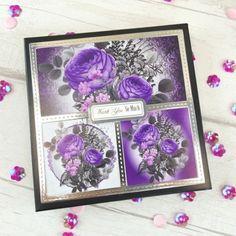 Amethyst Dreams Radiant Roses Luxury 3 pc Topper Set
