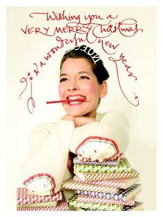 christmas 2012 Betty Soldis beautiful handwriting - & Kasper Winding photo - Helene Schjerbeck graphic design