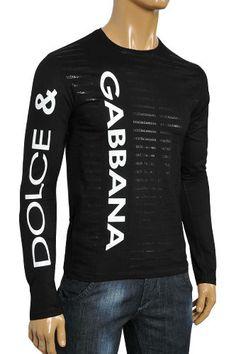 Mens Designer Clothes | DOLCE & GABBANA Men's Long Sleeve Tee #388