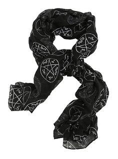 Supernatural Symbols Scarf   Hot Topic