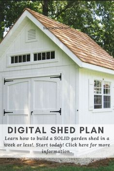 DIY Woodworking Garden Shed Digital Plans · This step by step diy woodworking project is about 6x12 lean to shed plans Diy Storage Shed Plans, Diy Shed, Lean To Shed Plans, Build Your Own Shed, Backyard Sheds, Tool Sheds, Building A Shed, Woodworking Projects Diy, Outdoor Structures