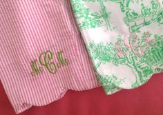 Have the green/white shorts - they would look great with this monogram