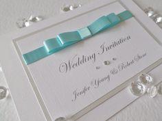 Personalised Handmade Wedding Invitations Hot Pink Tiffany Blue Pale Yellow Red | eBay