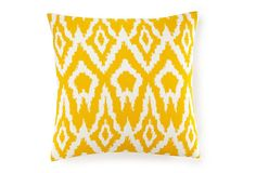 Ikat 20x20 Cotton Pillow, Yellow on OneKingsLane.com