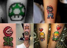 mario 8 bits tattoos - Buscar con Google