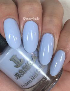 ehmkay nails: Jessica Cosmetics Polished in Pastels Collection, Swatches and Review. Jessica Cosmetics Periwinkle Bloom
