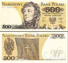 """1974 series Polish banknote, featuring Tadeusz Kościuszko and the Coat of Arms of the coat of arms of Poland on the obverse side, and the """"Żywią i Bronią"""" (""""To Feed and Defend"""") banner of the Kościuszko Uprising on the reverse side. Top Business Ideas, Online Writing Jobs, Money Notes, Euro Coins, Coat Of Arms, Poland, Vintage World Maps, Photo And Video, Nostalgia"""