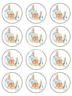 Resultado de imagen de peter rabbit cake topper free printable