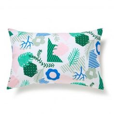 Patchwork Jungle Pillowcase Pair $47