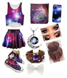 """""""galaxy is life"""" by grace-hobson on Polyvore featuring Converse and Accessorize"""