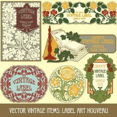 exquisite pattern stickers 03 vector