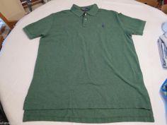 Polo Ralph Lauren The Mesh shirt short sleeve Men's 4384796 XL green heather NWT