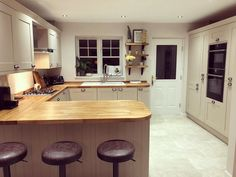 Likes, 54 Comments - Greenbank Interiors ( on Instagr. - House Plans, Home Plan Designs, Floor Plans and Blueprints Open Plan Kitchen, New Kitchen, Kitchen Decor, Shaker Kitchen, Cottage Shabby Chic, Shabby Chic Kitchen, Farmhouse Style Kitchen, Country Kitchen, Farmhouse Office