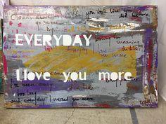 schilderij in opdracht laten maken Love You More, My Love, Latte, Day, Music, Wedding, Shop Signs, Kunst, Musica