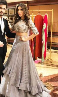 Latest Lehenga Choli Designs for Women Online - Happyshappy! Indian Lehenga, Bridal Lehenga Choli, Western Lehenga, Western Gown, Indian Wedding Outfits, Bridal Outfits, Bridal Gowns, Trajes Anarkali, Sharara