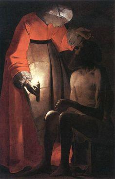 Georges de La Tour - Job Mocked by his Wife