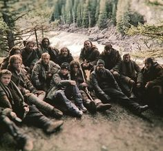 Tommy as John Fitzgerald & Leonardo DiCaprio & Alejandro González Iñárritu - The Revenant behind the scenes / The Revenant, Tom Hardy, Kiss Me Hardy, Hugh Glass, Domhnall Gleeson, John Fitzgerald, Army Soldier, Team Photos, Mountain Man