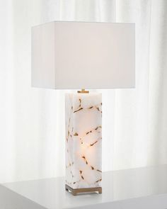 Calcite Table Lamp by John-Richard Collection at Horchow. Shabby Chic Lamps, Modern Floor Lamps, Modern Lighting, Lighting Design, Marble Art, Room Lamp, Vintage Lamps, Lamp Design, Lamp Light