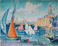 """""""Saint-Tropez, le quai"""", 1899. Signac, Paul, peintre français Paris 1863 – Paris 1935."""