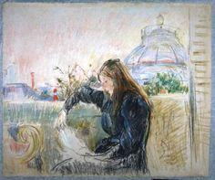Berthe Morisot  On the Balcony (1893)  Musée Marmottan Monet, Paris  Portrait of Julie Manet, the Artist's Daughter