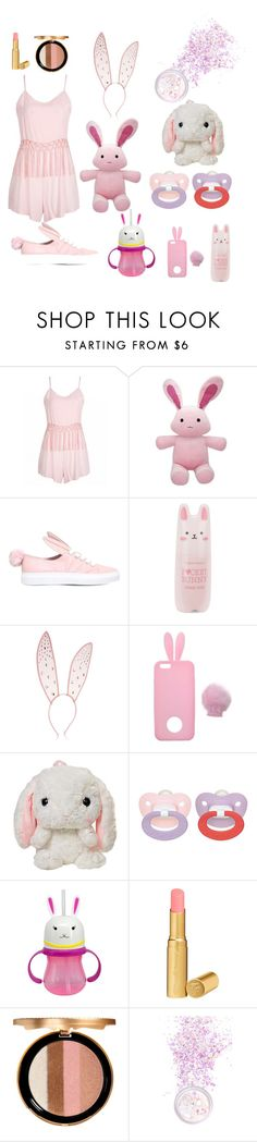 """Pink bunny babe"" by skyekitten333 ❤ liked on Polyvore featuring Minna Parikka, Tony Moly, Fleur du Mal, Miss Selfridge, Too Faced Cosmetics, In Your Dreams, bdsm, ddlg, petplay and bunnygirl"