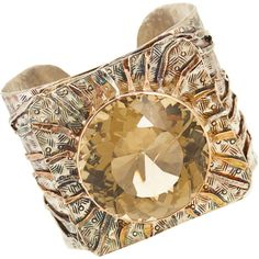 sandra dini cuffs | SANDRA DINI Square Crystal Cuff | Cuffs