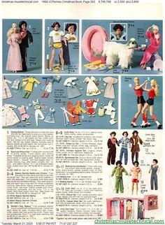 1980 JCPenney Christmas I got both Barbie and Ken Roller Disco dolls… 1980s Barbie, Barbie Toys, Vintage Barbie Dolls, Barbie And Ken, Barbie Stuff, Childhood Toys, Childhood Memories, Christmas Books, Christmas Catalogs