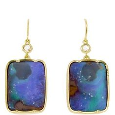 Irene Neuwirth Square Boulder Opal Earrings - Yellow Gold