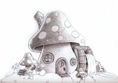 Related posts: Ideas house drawing illustration simple for 2019 44 Ideas home drawing house coloring pages New House Simple Drawing Illustrations 24 Ideen House [. Mushroom Drawing, Mushroom Art, House Illustration, Illustrations, Simple Artwork, Simple Drawings, Fairy Drawings, Mushroom House, Pintura Country