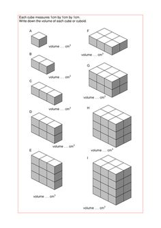 Printables Volume Counting Cubes Worksheet pinterest the worlds catalog of ideas finding volume cuboids with a big selection worksheets from simple counting cubes to working backwards find other
