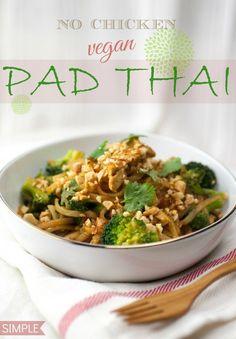 No Chicken Vegan Pad Thai | Produce On Parade