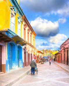 Streets Of San Cristobal De Las Casas - Colorful Mexico print sold to a buyer from Miami, FL